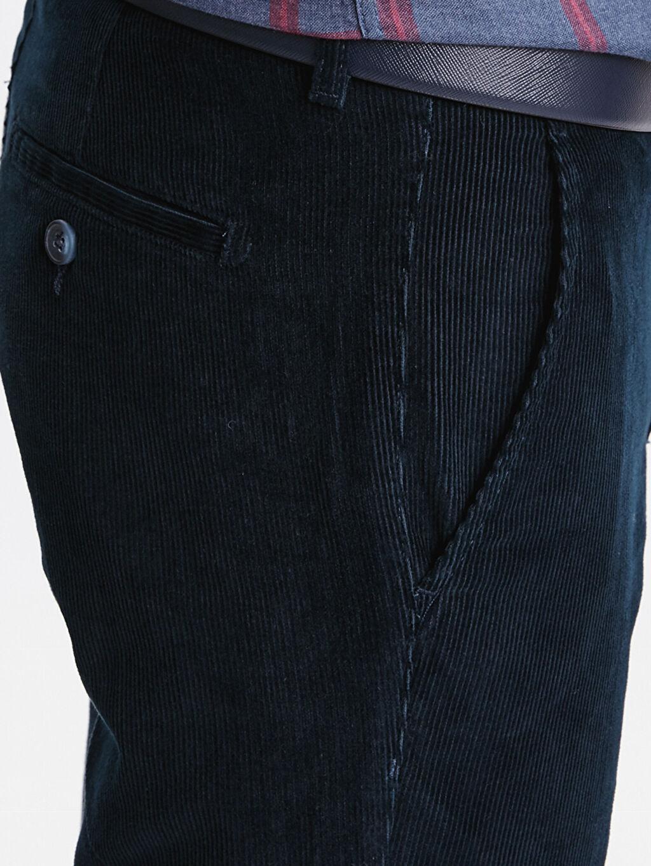 %100 Pamuk Geniş Kalıp Kadife Chino Pantolon