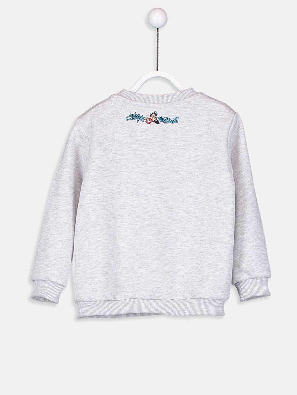 %43 Pamuk %57 Polyester  Erkek Bebek Nostaljik Maymun Baskılı Sweatshirt