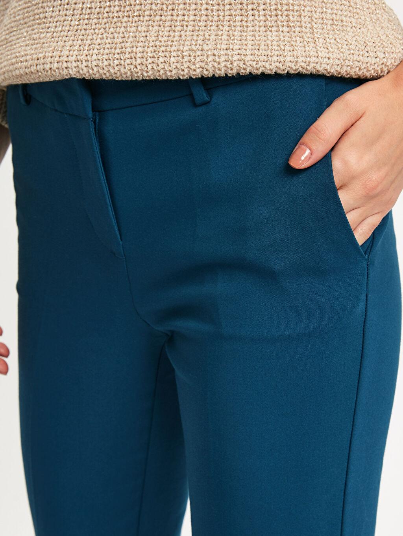 %54 Pamuk %42 Polyester %4 Elastan Bilek Boy Slim Kumaş Pantolon