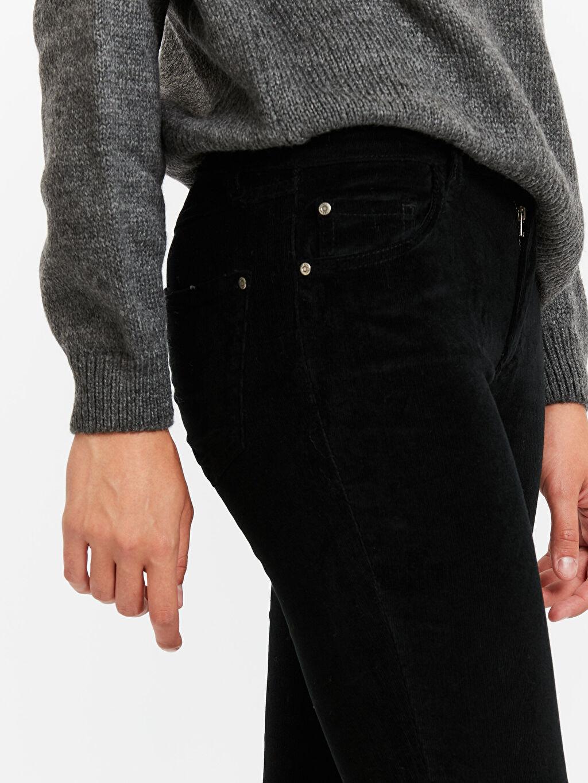 %98 Pamuk %2 Elastan Kadife Skinny Pantolon