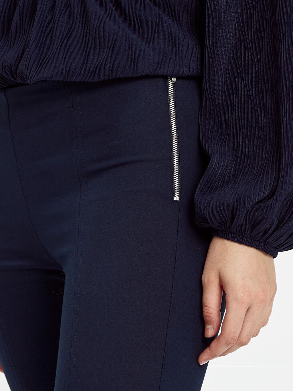 %56 Pamuk %39 Polyester %5 Elastan Bilek Boy Skinny Pantolon
