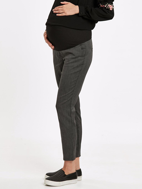 %66 Polyester %2 Elastan %32 Viskon Pantolon Jakarlı Skinny Hamile Pantolon