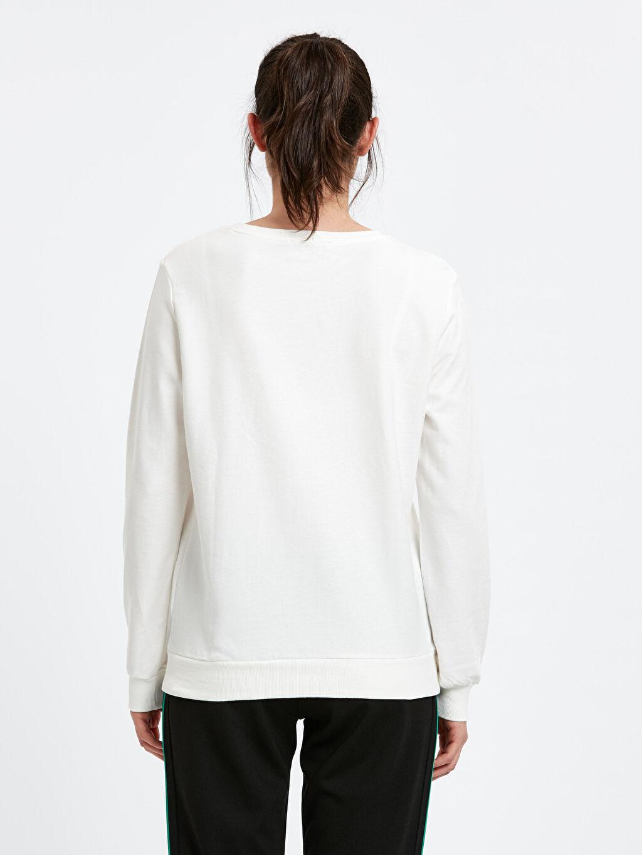 %100 Pamuk  Yazı Baskılı Sweatshirt