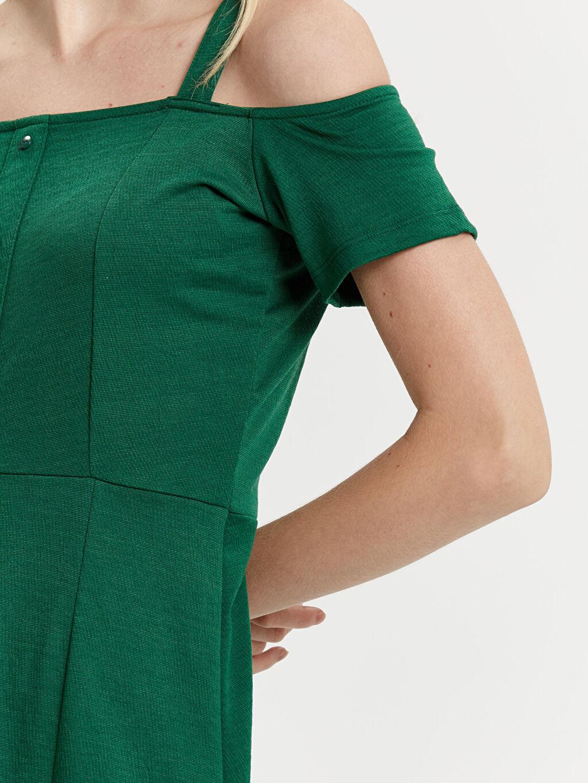 Kadın Omuzları Açık Mini Elbise