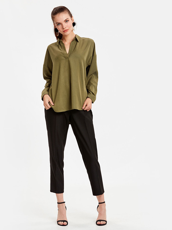 Kadın Yakalı Tensel Bluz