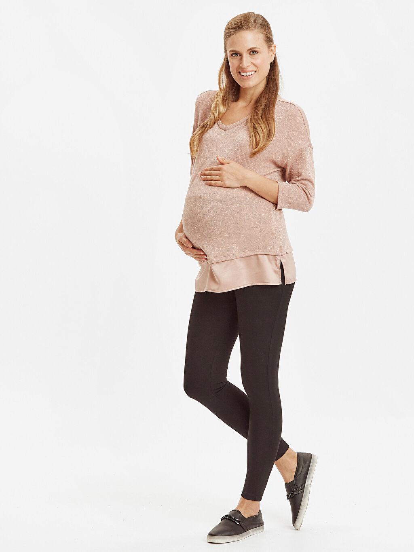 Kadın Işıltılı Hamile Bluz