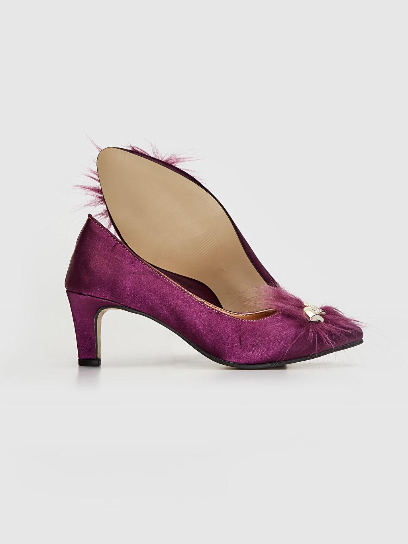 Kadın Kadın Tüy Tokalı Topuklu Ayakkabı