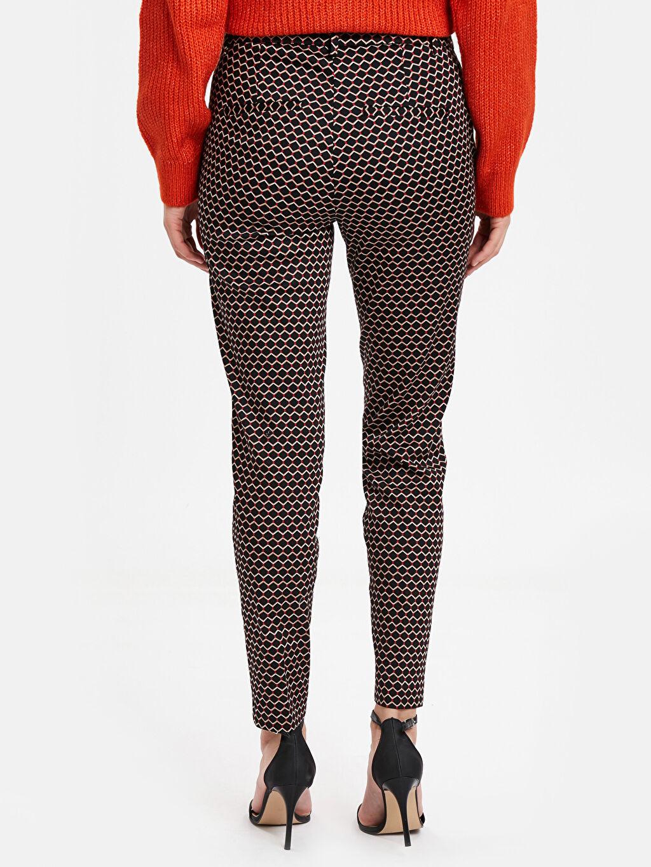 Kadın Desenli Gabardin Pantolon