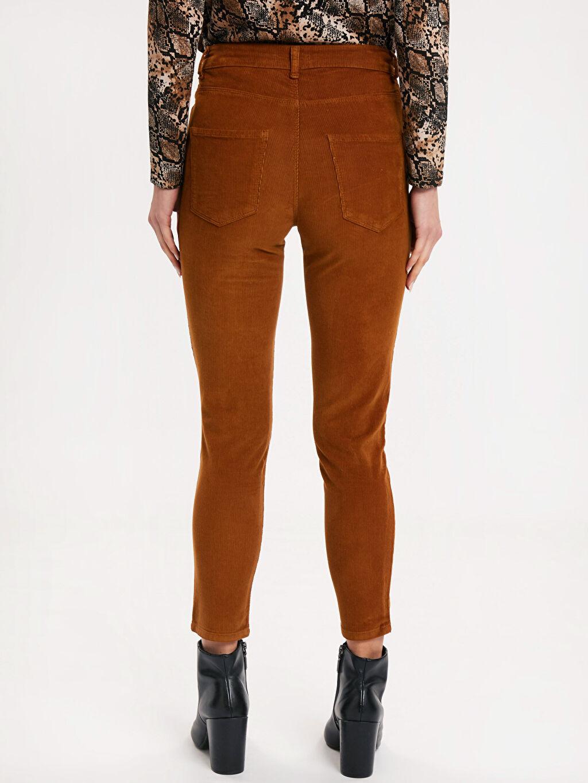 Kadın Bilek Boy Super Slim Kadife Pantolon