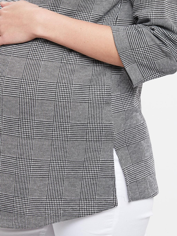 %83 Polyester %1 Elastan %16 Viskoz Ekose Hamile Tişört