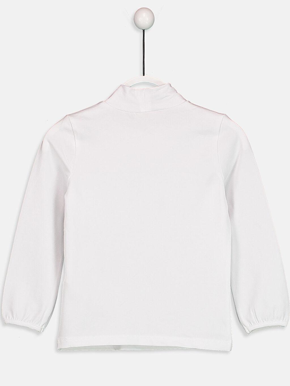 %96 Pamuk %4 Elastan Standart Tişört Düz Uzun Kol Balıkçı Yaka Düz Pamuklu Balıkçı Yaka Tişört