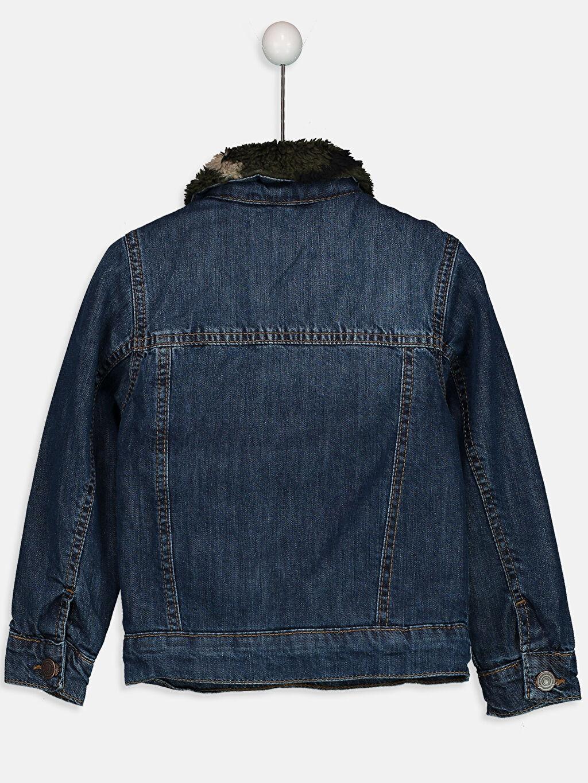 %100 Pamuk Kalın Ceket Jean Ceket
