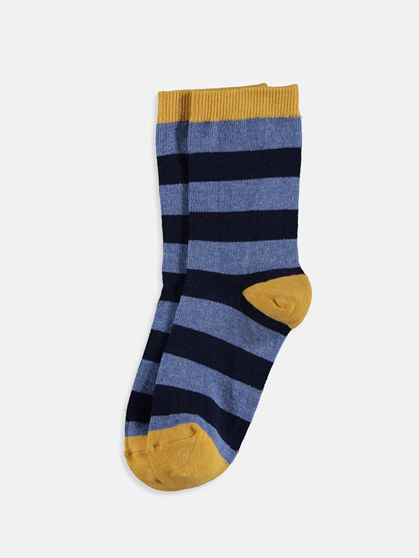 8W4298Z4 Erkek Çocuk Soket Çorap 7'li