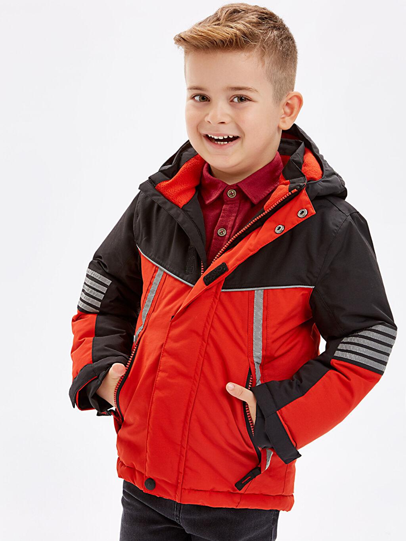 %100 Poliamid Erkek Çocuk Kalın Kayak Kabanı