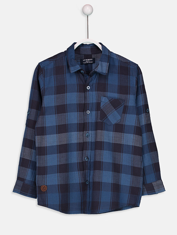%100 Pamuk Standart Uzun Kol Ekoseli Erkek Çocuk Uzun Kollu Ekose Gömlek