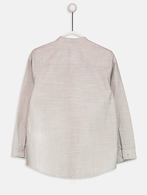 %100 Pamuk Standart Uzun Kol Düz Uzun Kollu Pamuklu Gömlek