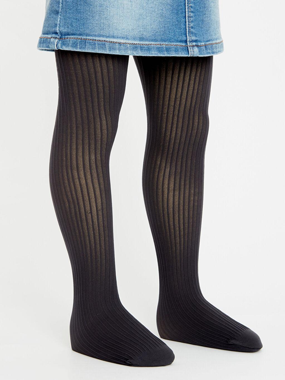 %91 Poliamid %9 Elastan  Kız Çocuk Külotlu Çorap