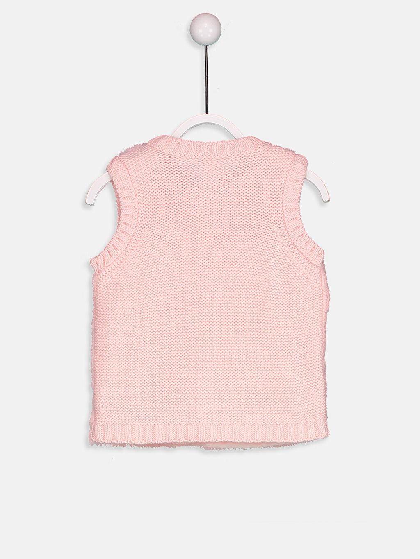 %88 Akrilik %12 Polyester %100 Polyester Yelek Orta Kız Bebek Triko Detaylı Pelüş Yelek