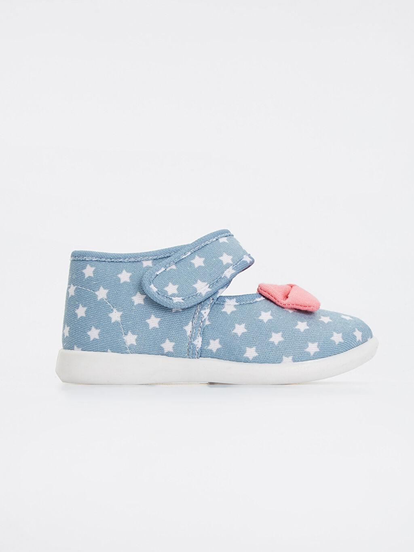 Mavi Kız Bebek Baskılı Ayakkabı 8W0349Z1 LC Waikiki