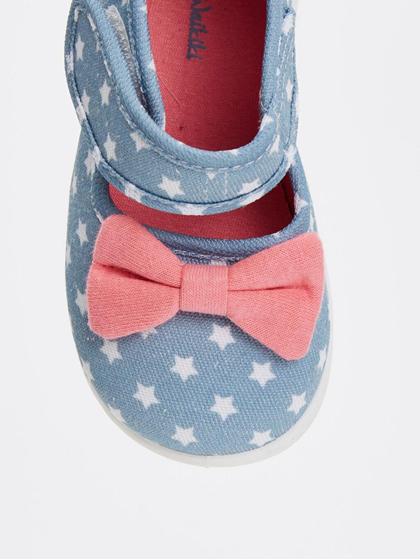 LC Waikiki Mavi Kız Bebek Baskılı Ayakkabı