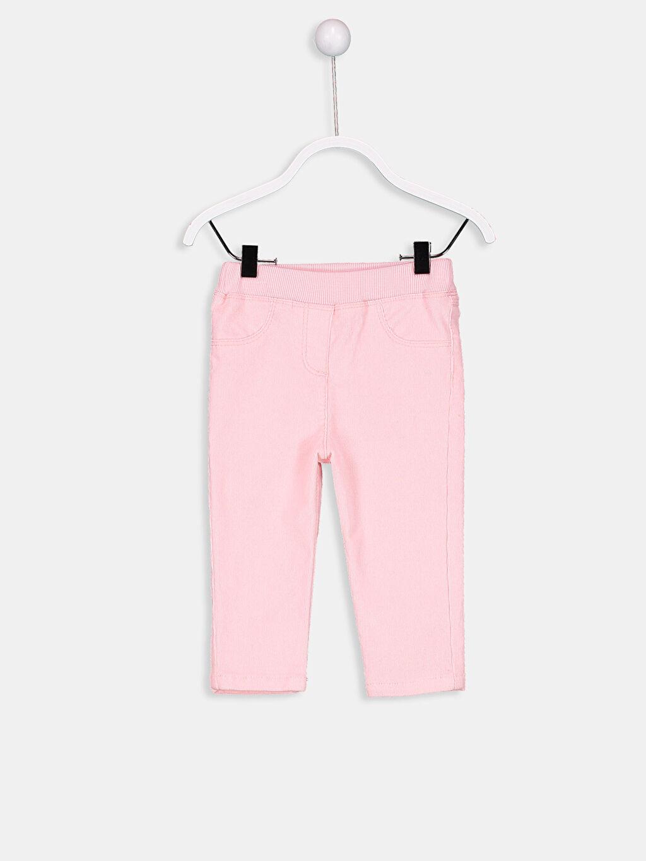 Pembe Kız Bebek Fitilli Kadife Pantolon 8W3809Z1 LC Waikiki