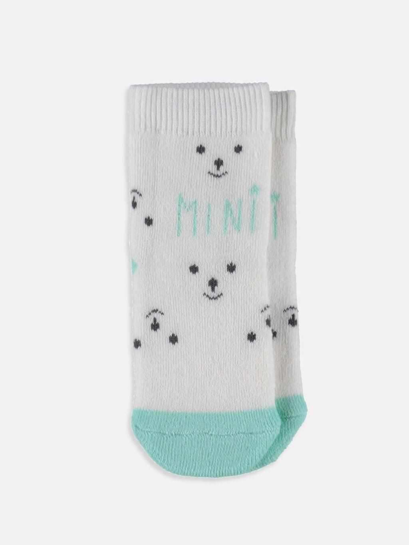 Erkek Bebek Kaydırmaz Tabanlı Soket Çorap 3'lü