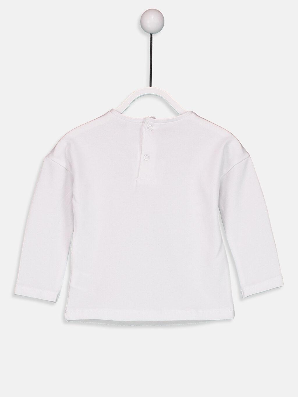 %97 Pamuk %3 Elastan  Unisex Yenidoğan Baskılı Pamuklu Tişört