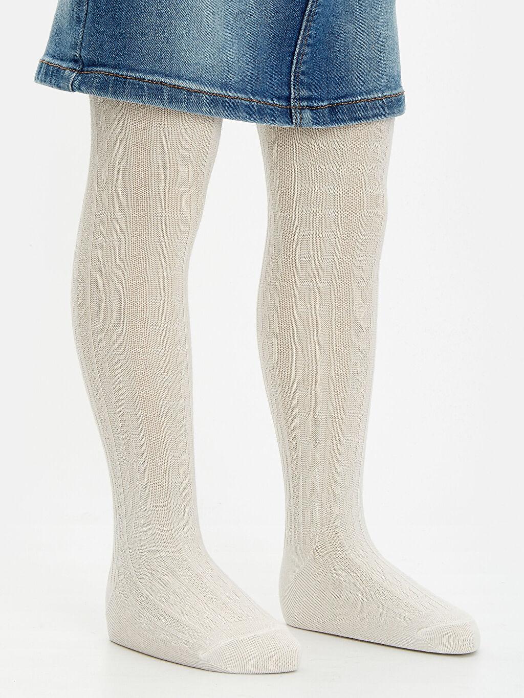 Kız Bebek Kız Bebek Jakarlı Külotlu Çorap 2'li