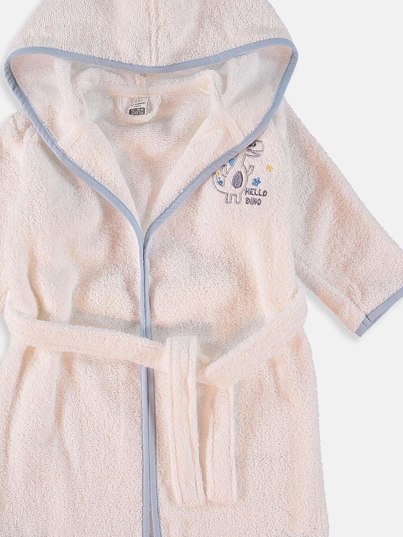 Erkek Bebek Kapüşonlu Bornoz