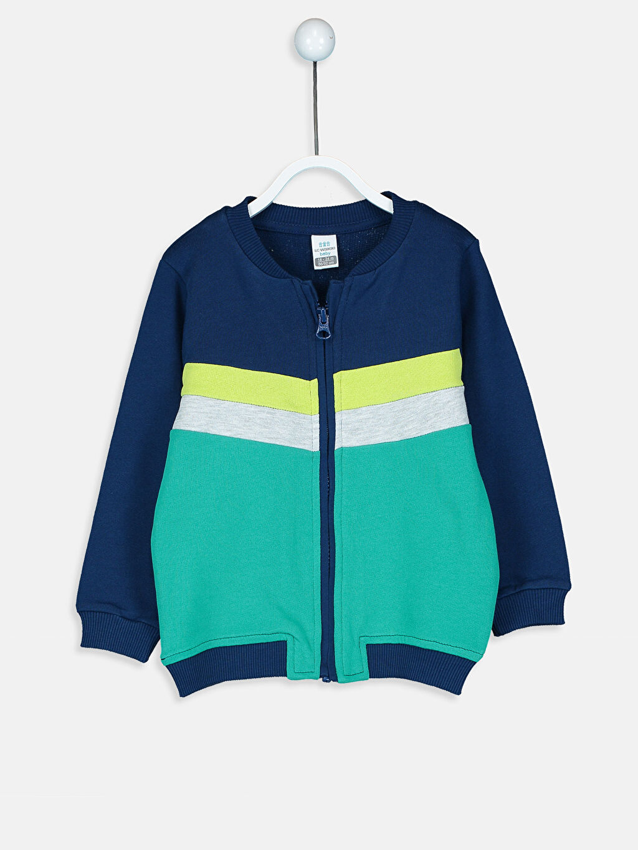 Lacivert Erkek Bebek Fermuarlı Sweatshirt 8WM773Z1 LC Waikiki