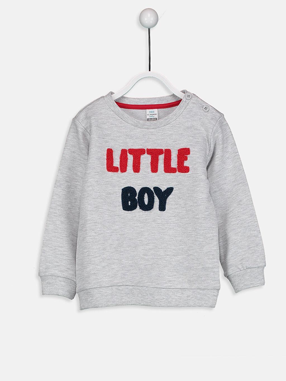 Bej Erkek Bebek Nakış Baskılı Sweatshirt  8WN487Z1 LC Waikiki