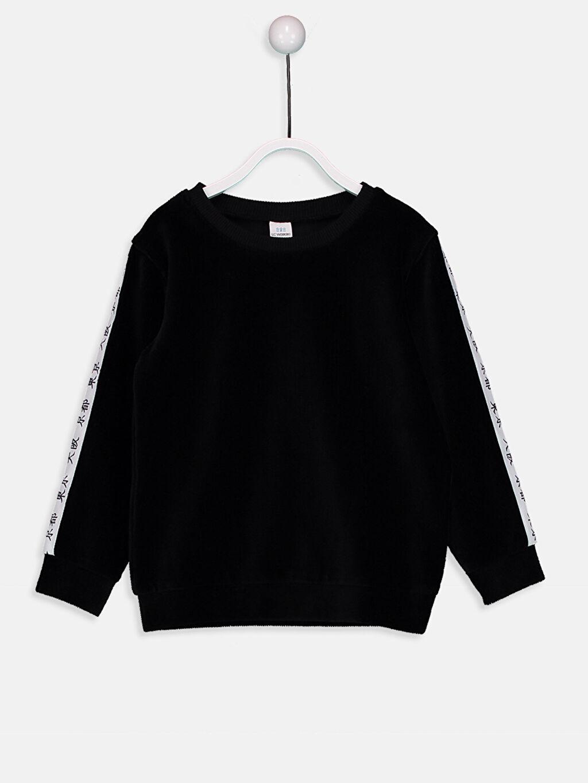 Siyah Erkek Bebek Sweatshirt 8WN545Z1 LC Waikiki