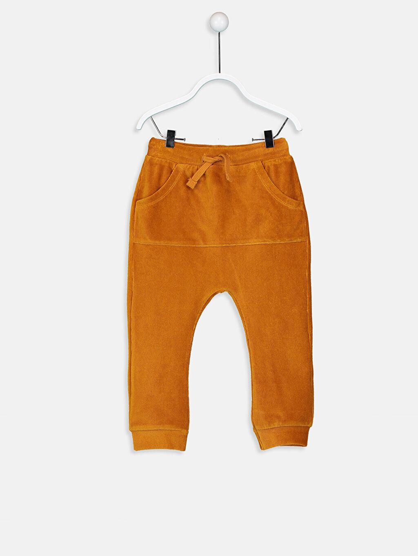 Sarı Erkek Bebek Kadife Pantolon 8WN586Z1 LC Waikiki