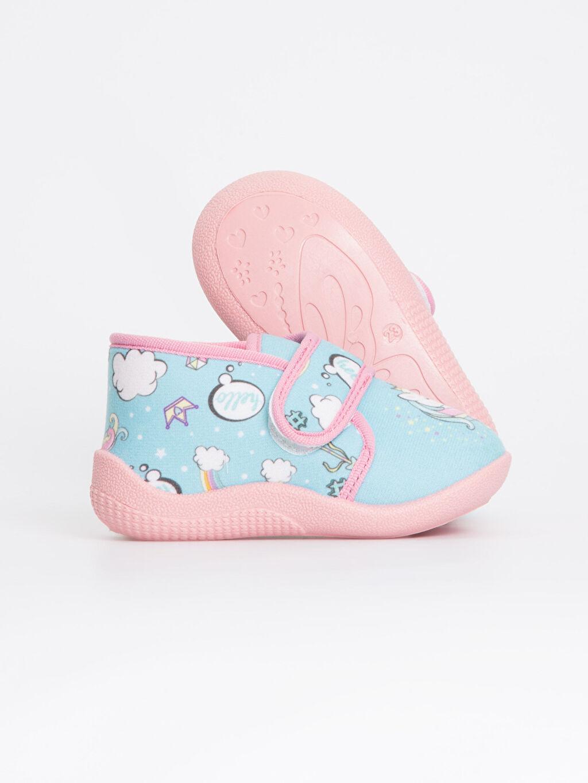 Kız Bebek Kız Bebek Unicorn Desenli Ev Ayakkabısı