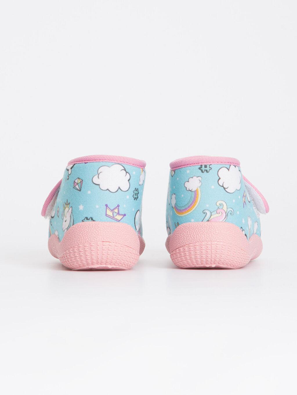 Kız Bebek Unicorn Desenli Ev Ayakkabısı