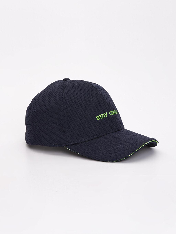 Lacivert Yazı Baskılı Şapka 9S0490Z8 LC Waikiki