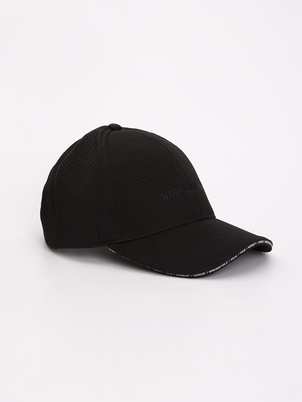 Siyah Yazı Baskılı Şapka 9S0490Z8 LC Waikiki