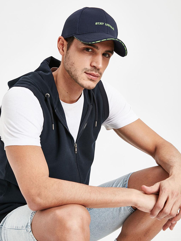 %98 Polyester %2 Elastan Yazı Baskılı Şapka