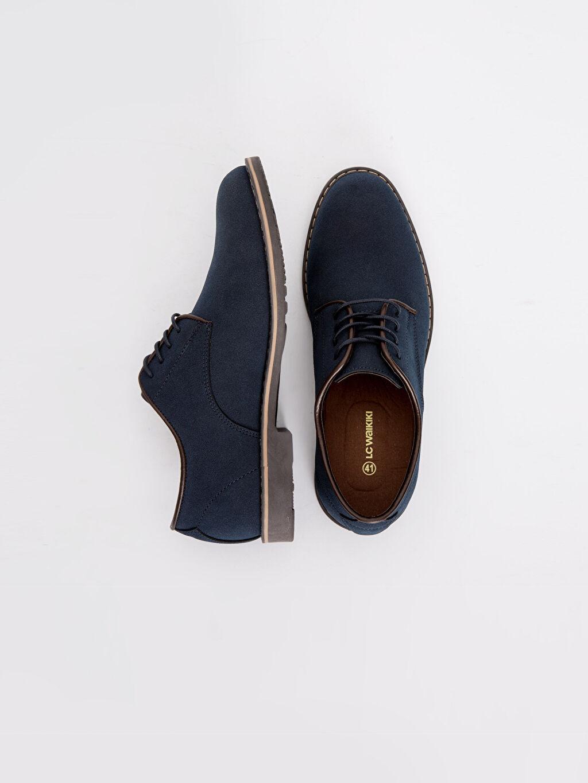 Diğer malzeme (pvc)  Erkek Süet Derby Ayakkabı
