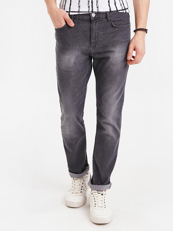 %98 Pamuk %2 Elastan Normal Bel Normal Jean 779 Regular Fit Jean Pantolon