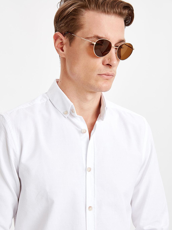 LC Waikiki Beyaz Slim Fit Uzun Kollu Oxford Gömlek