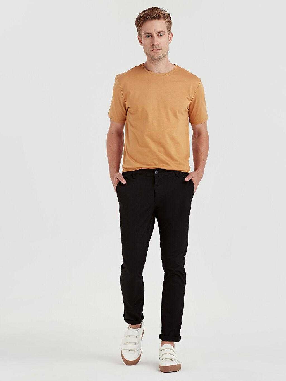 Siyah Ekstra Dar Kalıp Pamuklu Chino Pantolon 9S1106Z8 LC Waikiki
