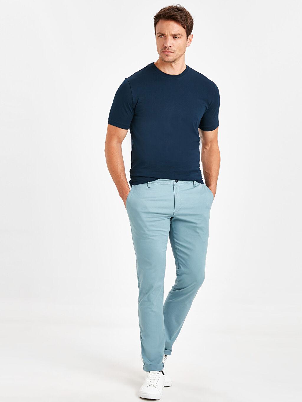 Mavi Ekstra Dar Kalıp Pamuklu Chino Pantolon 9S1106Z8 LC Waikiki