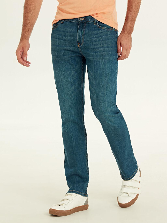 %99 Pamuk %1 Elastan Rahat Normal Bel Jean Beykoz Rahat Kalıp Jean Pantolon