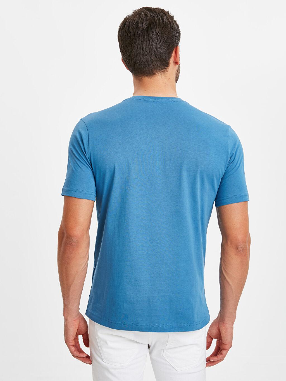 %100 Pamuk Düz Standart Kısa Kol Tişört V yaka V Yaka Kısa Kollu Pamuklu Tişört