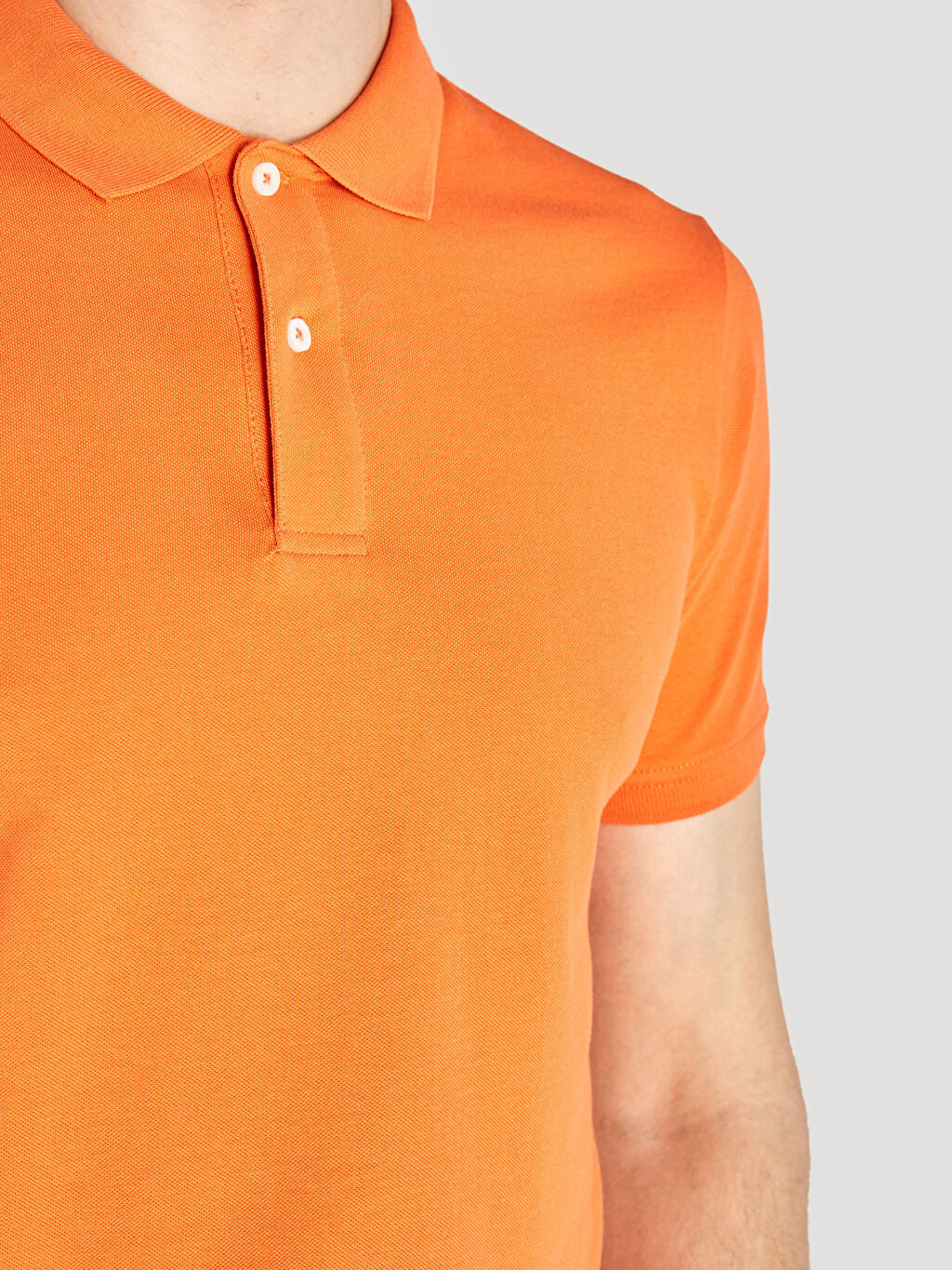 %100 Pamuk Polo Yaka Kısa Kollu Pike Basic Tişört