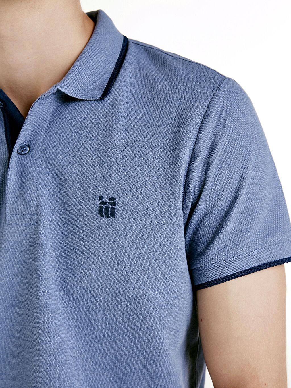 %47 Pamuk %53 Polyester Polo Yaka Kısa Kollu Pike Tişört