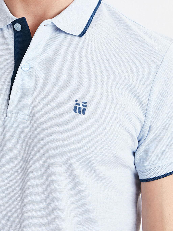 %50 Pamuk %50 Polyester Polo Yaka Kısa Kollu Pike Tişört