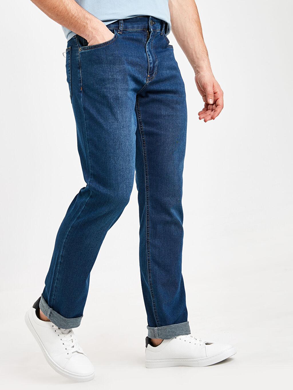 %80 Pamuk %19 Elastomultiester %1 Elastane Normal Jean 779 Regular Fit Jean Pantolon