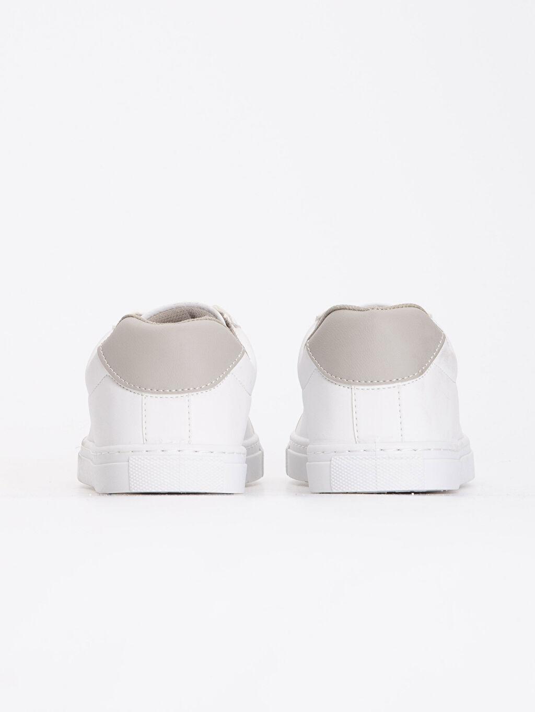 Erkek Beyaz Bağcıklı Spor Ayakkabı